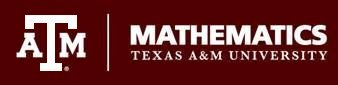 Texas A&M Mathemathics mark
