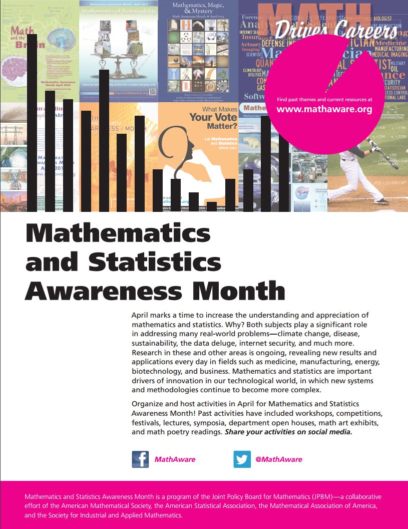 Math Awareness Month, Department of Mathematics, Texas A&M University