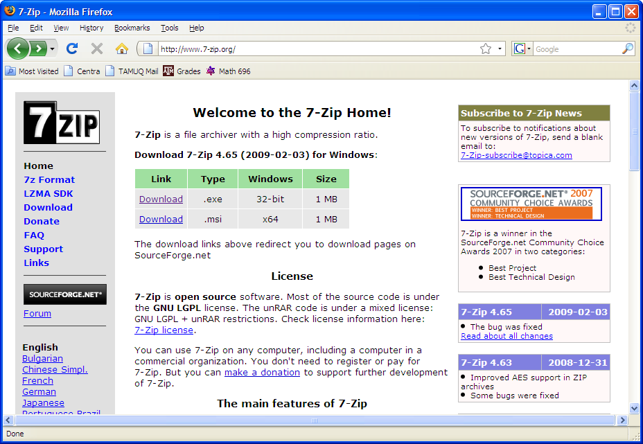 7-ZIP download and installation instructions