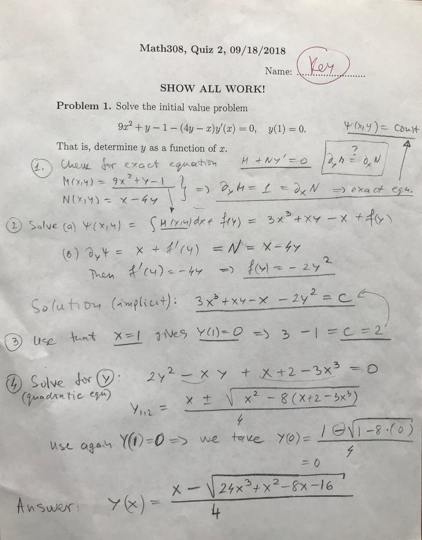 Math 308